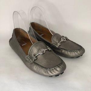 Coach Arlene metallic driving loafers